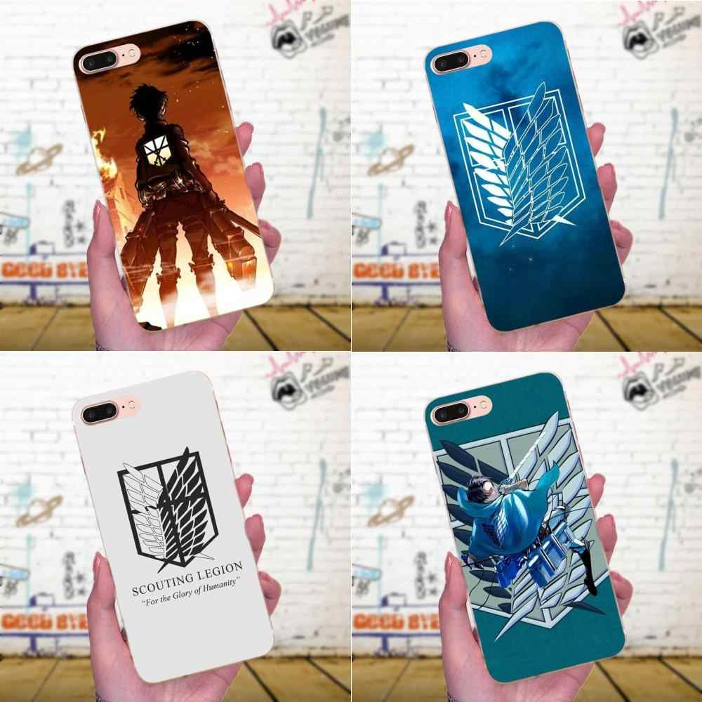 Anime Japanese Attack On Titan Beautiful For Huawei P7 Honor 4C 5A 5C 5X 6 6C 6A 6X 7 7X 8 9 V8 V10 Y3II Y5II Y6II G8 Play Lite