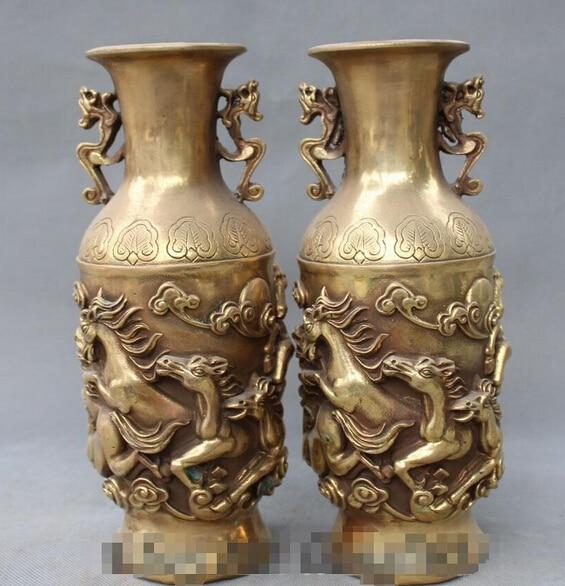 Scy 1127chinese Dynasty Feng Shui Zodiac Year Animal Horse Bottle