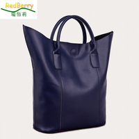 Large 100% genuine leather bag Fashion women shoulder bag lady tote Messenger bag solid casual Europe and America crossbody bag