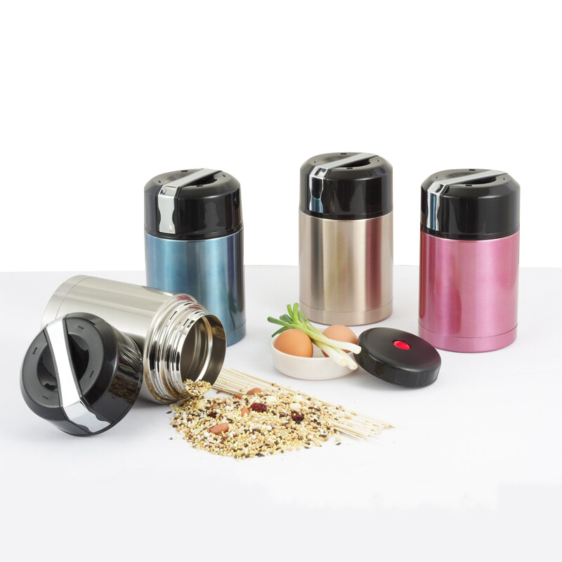 800ml/1000ML Big mouth Stainless steel metal School Vacuum Thermos Lunch box portable Kids meal box Food container Soup thermos