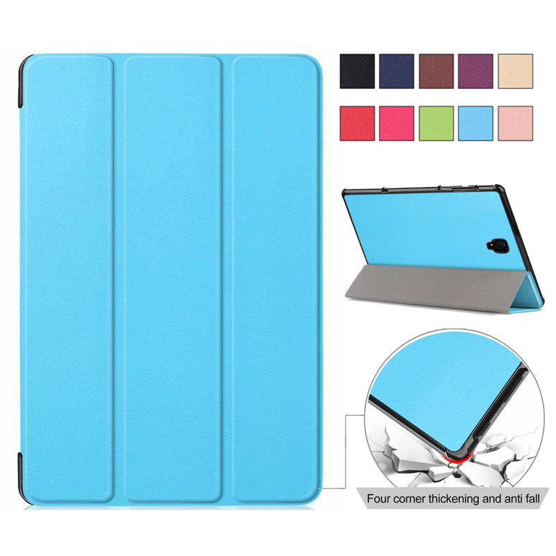 Luxury Slim Folio Stand PU Cover Case For Samsung Galaxy Tab A 10.5 Inch 2018 T590 SM-T590 SM-T595 SM-T597 Protector Skin