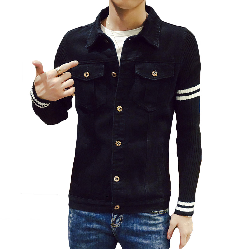 Online Get Cheap Men's Black Denim Jacket -Aliexpress.com ...