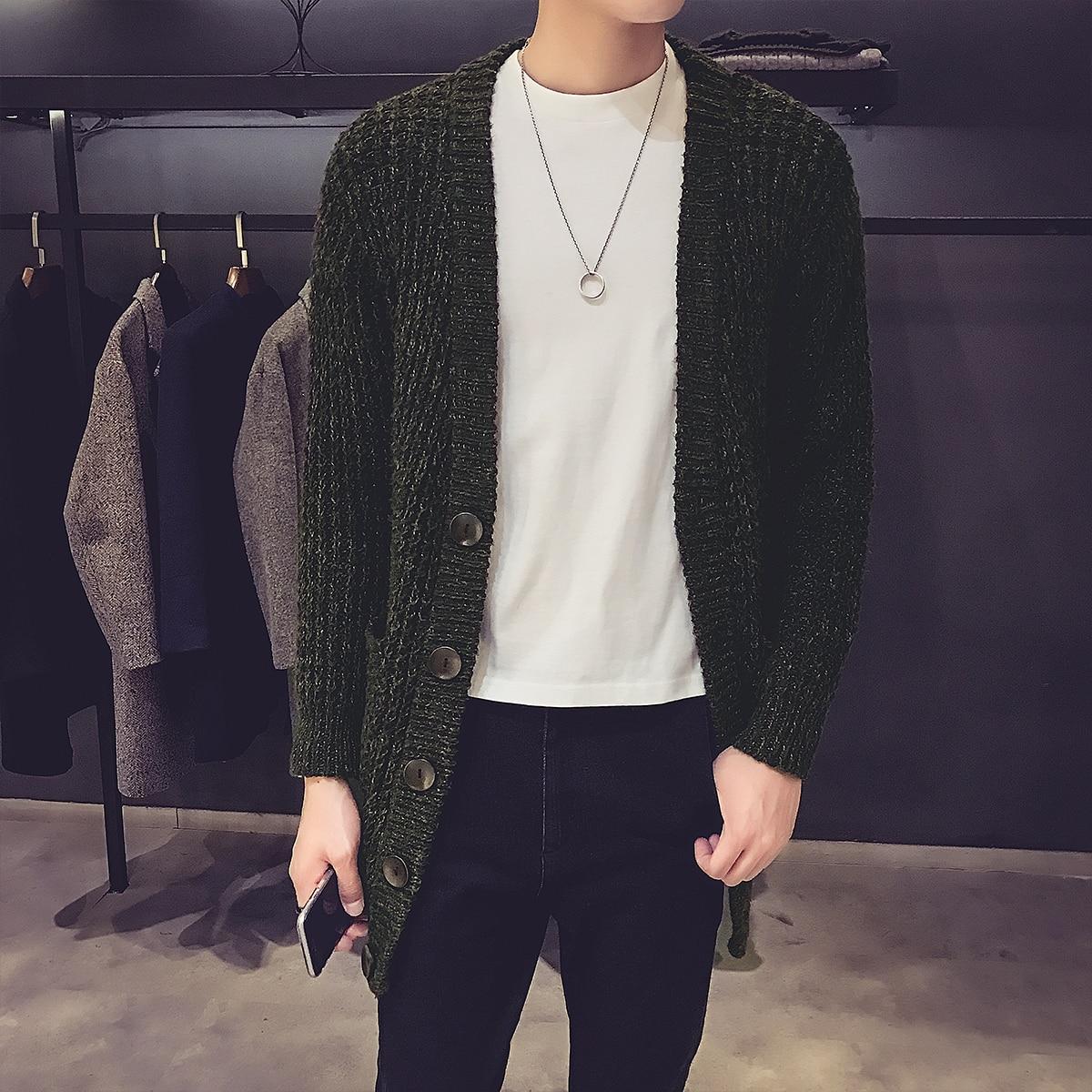font b Men b font Fashion Causal Long Cardigan font b Sweater b font Knitwear