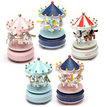 Kids Carousel Music Box Merry Go Round Musical Devolopment Toys Room Decor(China)