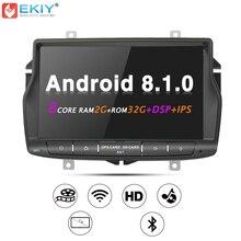 EKIY ips DSP автомобильный мультимедийный плеер для Lada Веста 1 Din Android 8.1.0 gps-навигация Авторадио системы стерео радио Wi Fi 4 г USB