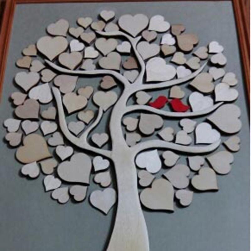 Decorative Wood Chips ~ Pcs lot mm wooden peach heart patch love decorative