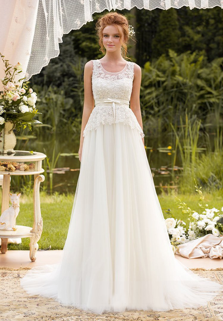 Buy long elegant tulle wedding dresses for Top of the line wedding dresses