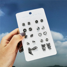 TTLIFE Boho Mix Design Small Stud Earrings Set For Women Girl Punk Personality Party Jewelry Fashion Brincos
