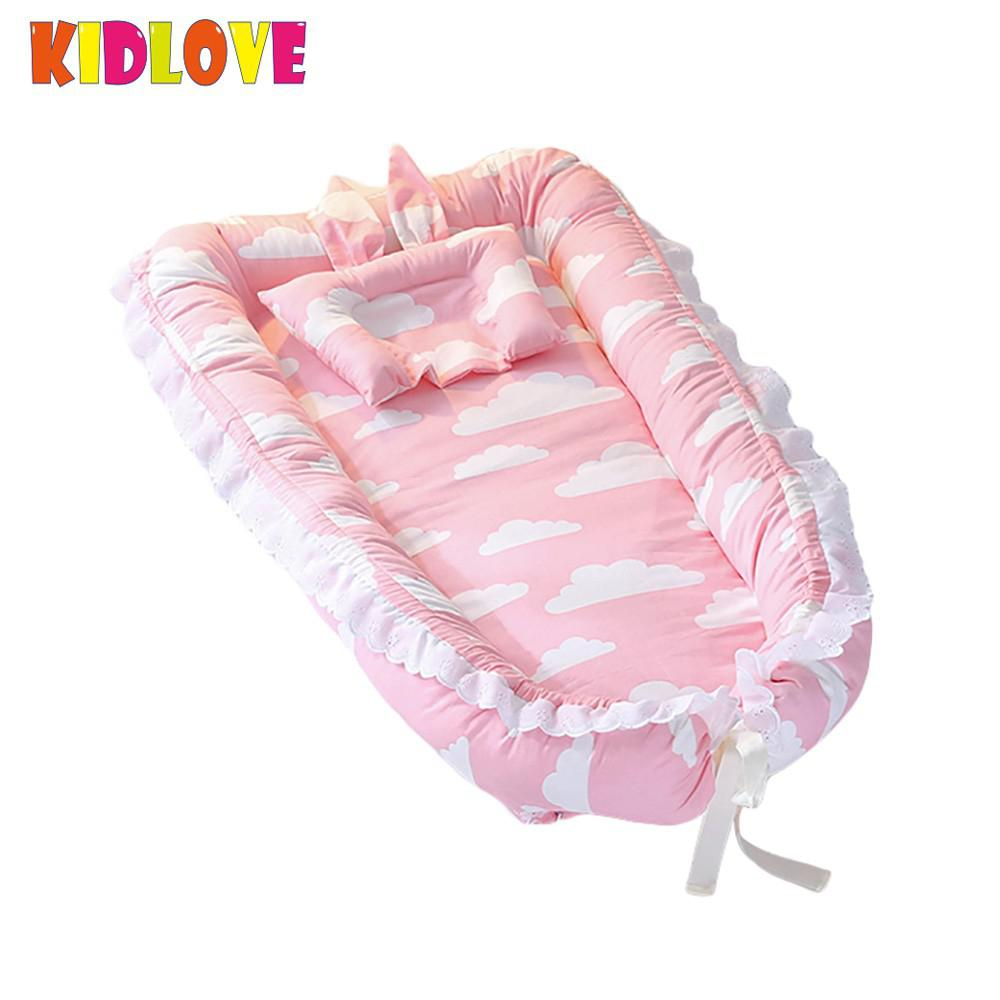 KIDLOVE Baby Bed Detachable Protable Mattress Baby Nest Newborn Babynest Sleep Bed For Newborn and Toddlers ...