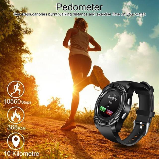 Smart Watch V8 Bluetooth Android Watch Women SIM Slot IP67 Waterproof Touch Screen SMS iOs Watch Smart Watch PK DZ09 Smartwatch
