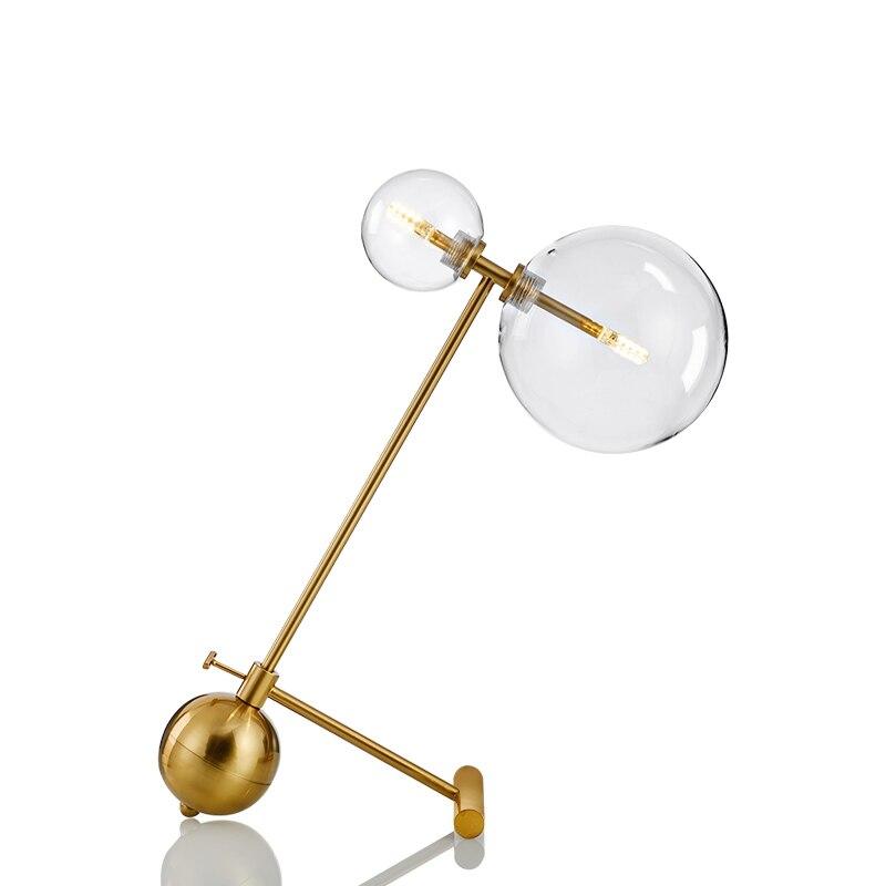 Postmodern Creative Art Desk Desk Lamp Bedside Bedroom Model Room iron glass Table Lamp G9 led