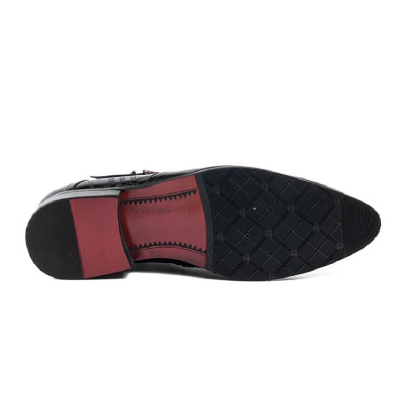 Motorcylcle Inverno Zíper vermelho Clássico Senhores Northmarch Do Preto Vintage Estilo Boots Nova Vinho Men Ankle Chegada Botas De Sapatos Preto Lateral Couro Com pSAwaSq