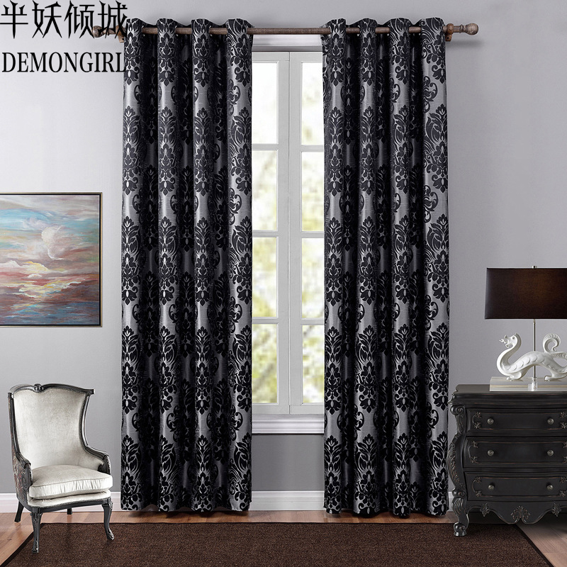 DEMONGIRL Fashion Floral Pattern Curtains For Living Room Bedroom Pastoral Kitchen Window Treatments Home Door Blinds