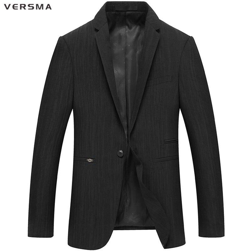VERSMA High Quality Suit Blazer Masculino Men Solid Suit Jacket Men Blazer Designs Casual Men Blazers Jackets Formal Jacket Coat