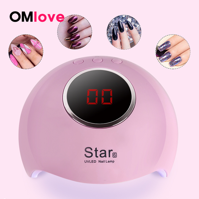 OMlove Nail UV Lamp For Manicure 36W LED Lamp For All Gels Drying Gel Nail Polish With LCD Nail Dryer 3 Timing Nail Art Lamp USB