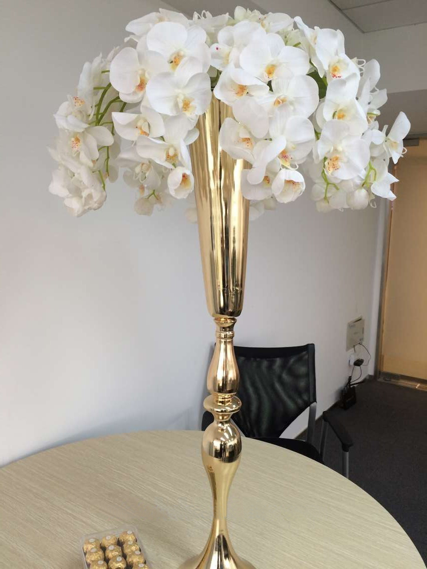 Shiny Gold wedding flower vases 88cm Tall Table Centerpiece-in Vases ...