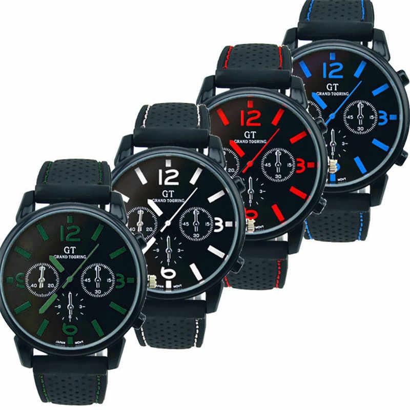 יוקרה צבאי שעון גברים עמיד למים ספורט קוורץ שעון גברים ספורט שעוני יד סיליקון להקת שעון קמפינג צלילה relogio masculino