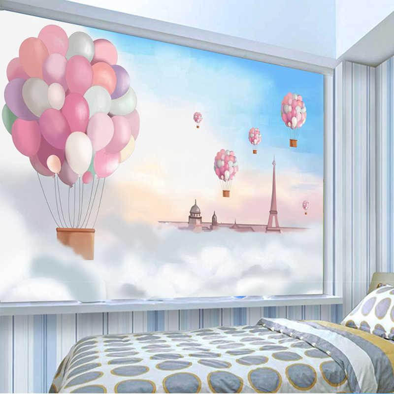 Niestandardowe 3D tapeta z plakatem Cartoon dekoracja pokoju dziecięcego różowa gorąca ściana z balonami Mural tapeta dziewczyny tapeta do sypialni drukuj