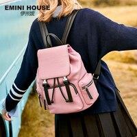 Эмини дом из натуральной кожи рюкзак Для женщин сумка Портативный школьный рюкзак Съемный рюкзак путешествия функциональный Вместительны
