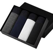 2016 Panties Mens 4Pcslot Underwear Soft Boxers Modal Boxer Men Solid Boxer Shorts Plus Size Boxers Mens Underwear Lot hot sale