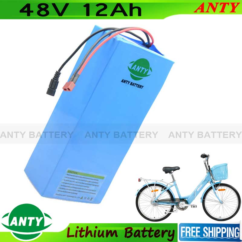 48v Lithium Battery 12Ah 500w eBike Battery 48v with 54.6v 2A charger 15A BMS Electric Bicycle Scooter Battery 48v Free Shipping free customs taxes ebike battery 48v 40ah 2000w electric bicycle lithium battery pack with charger and 50a bms