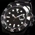 40mm parnis no logo PVD Ceramic Bezel luminous sapphire glass automatic movement mens watch 067