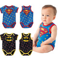Baby Rompers Baby One-Piece Romper Baby Summer Clothing Stars Superman Batman 1-2 Year Infant Baby Boys Overalls Vetement Enfant