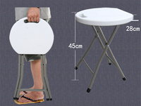 45 33CM High Quality Portable Folding Office Stool Small Round Stools