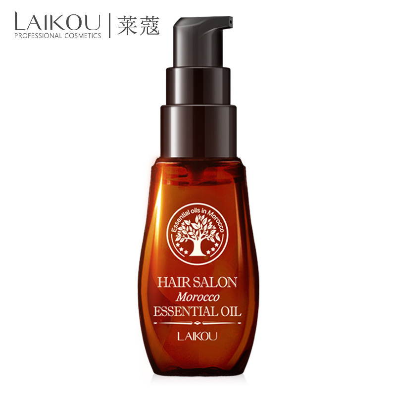 LaiKou pure morocco argan oil hair oil keratin straightening curly treatment Growth mask for damaged Hair dry split ends 40ml image