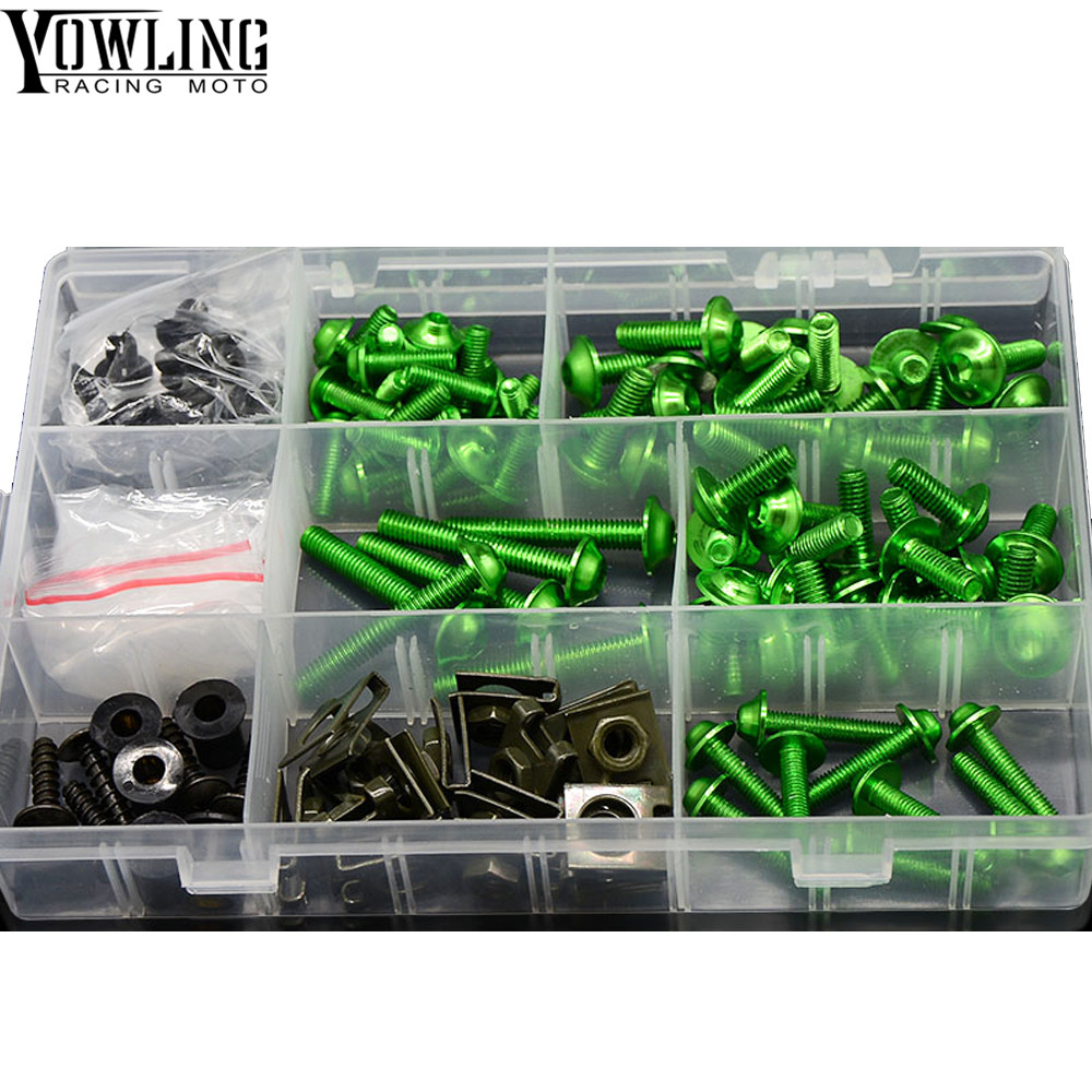 Motorcycle Accessories Fairing windshield Body Work Bolts Nuts Screws for Kawasaki Ninja ZX6 ZX6R ZX7R ZX9R ZX12R ZX14R ZX500R in Covers Ornamental Mouldings from Automobiles Motorcycles