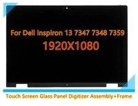 Für Dell Inspiron 13 7000 serie 7347 7348 7359 P57G 11118178082 LCD Display Touch Screen Glas Panel Digitizer Montage + rahmen-in Laptop-LCD-Bildschirm aus Computer und Büro bei