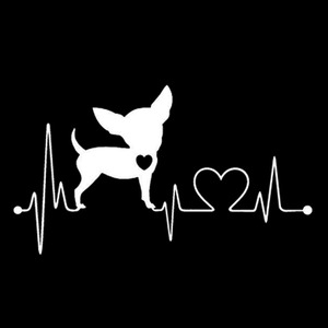 Image 2 - 11.7*6.6CM Chihuahua Dog Vinyl Decal Lovely Waterproof Car Window Stickers Car Styling Decoration Black/Silver S1 0355