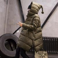 2019 winter new fashion loose thicken parkas coats female A Line zipper green parkas jackets women casual style clothes gx1376