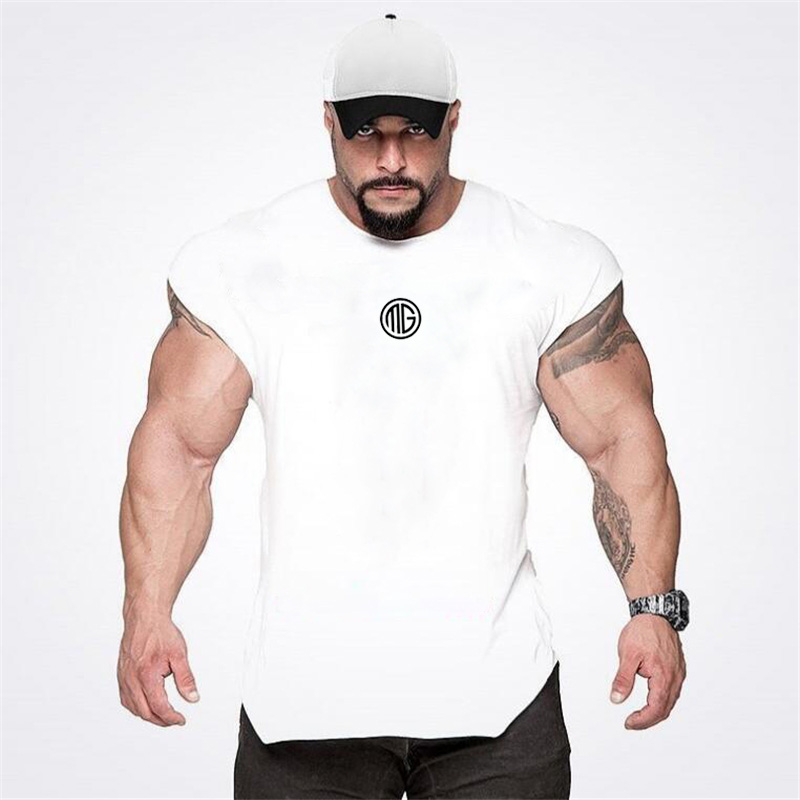 Muscleguys Brand Clothing Fitness   Tank     Top   Men Gyms Stringer Muscle Shirt Workout Vest Bodybuilding Sleeveless Singlets