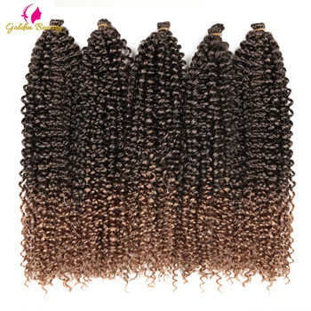 18-22 cali długa pasja Twist szydełkowe włosy rozszerzenia syntetyczna woda fala włosy plecione czechy szydełkowe warkocze złote piękno