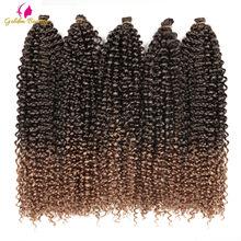 18-22inch Long Passion Twist Crochet Hair Extensions Synthetic Water Wave Braiding Hair Bohemia Crochet Braids Golden Beauty
