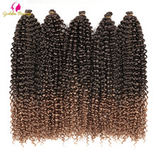 18-22inch Long Passion Twist Crochet Hair Extensions Synthetic Water Wave Braidi
