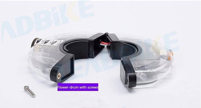 Leadbike luz da roda da bicicleta frente