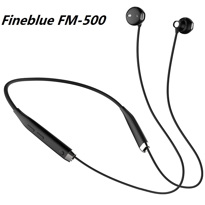 2017 Fineblue FM-500 Wireless Neckband Headset In Ear earphones 4 Colors Wireless Headphones With Retail Box PK HBS 900 kz headset storage box suitable for original headphones as gift to the customer