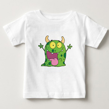 Boys Girls T-shirts Cartoon Tongue MONSTER T Shirt Children's Summer Short Sleeve Cotton T Shirts Baby Monster Tees Tops 2-15Y цена и фото