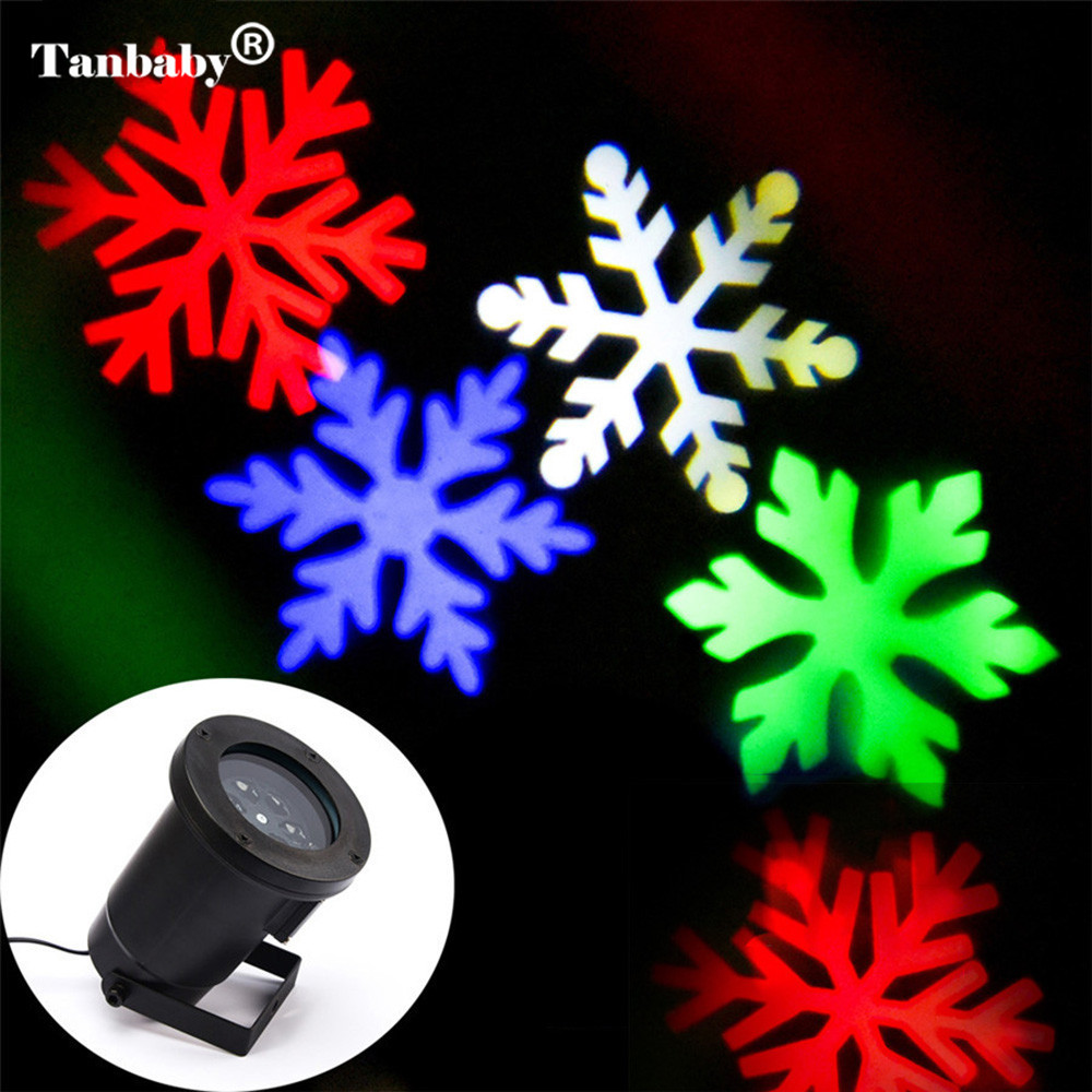 Snowflake Outdoor Projector lamp Christmas Festival Laser Light Waterprooof Indoor for Garden Party Birthday Houses Decoration