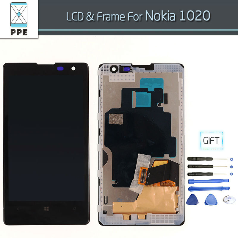 Original LCD for Nokia Lumia 1020 N1020 1020 LCD display Complete Touch Screen Digitizer Assembly With Frame Free Shipping+Tools for datalogic falcon x3 lcd screen display with touch screen digitizer assembly complete for 3rd version