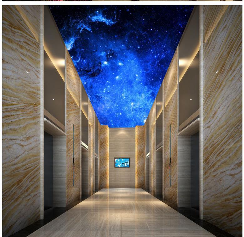 US $12.6 58% OFF|Individuelle fototapeten 3D Eurpean Fantasie star sky  decke wohnzimmer TV hintergrund schlafzimmer 3d fototapete-in Tapeten aus  ...