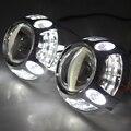 Новый 3 дюймов Автомобиля Проектор Фары Bixenon СПРЯТАЛ Объектив Проектора для Porsche Panamera для Всех Автомобилей с 4 глаза Белый Angel Eyes