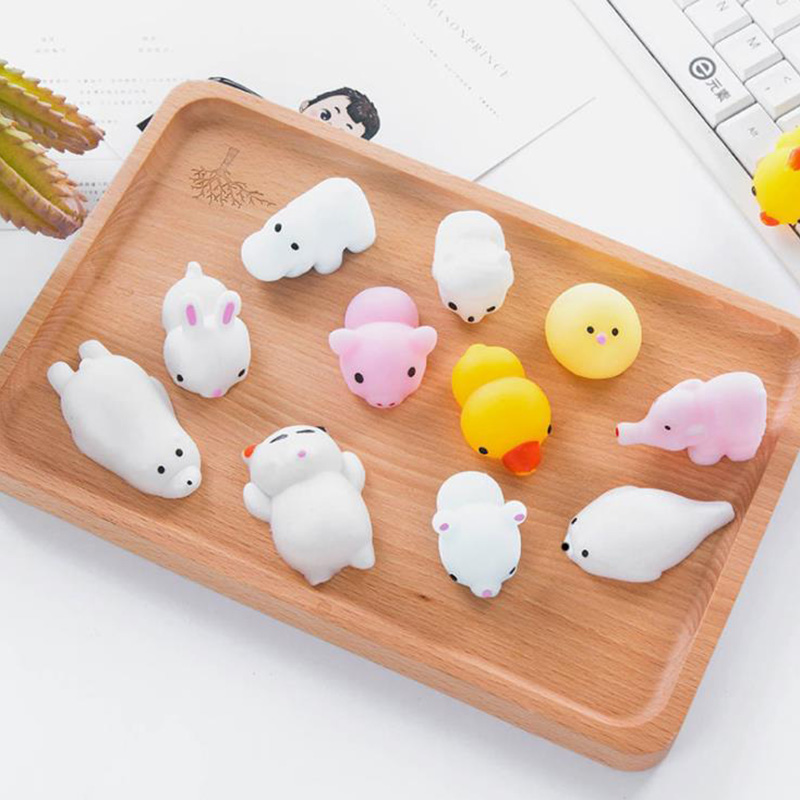 Squishy Mini Change Color Cat Animals Doll Slow Rising Cute Antistress Ball Soft Squeeze Toy Stress Relief Fun for Kid Gift ToysStress Relief Toy