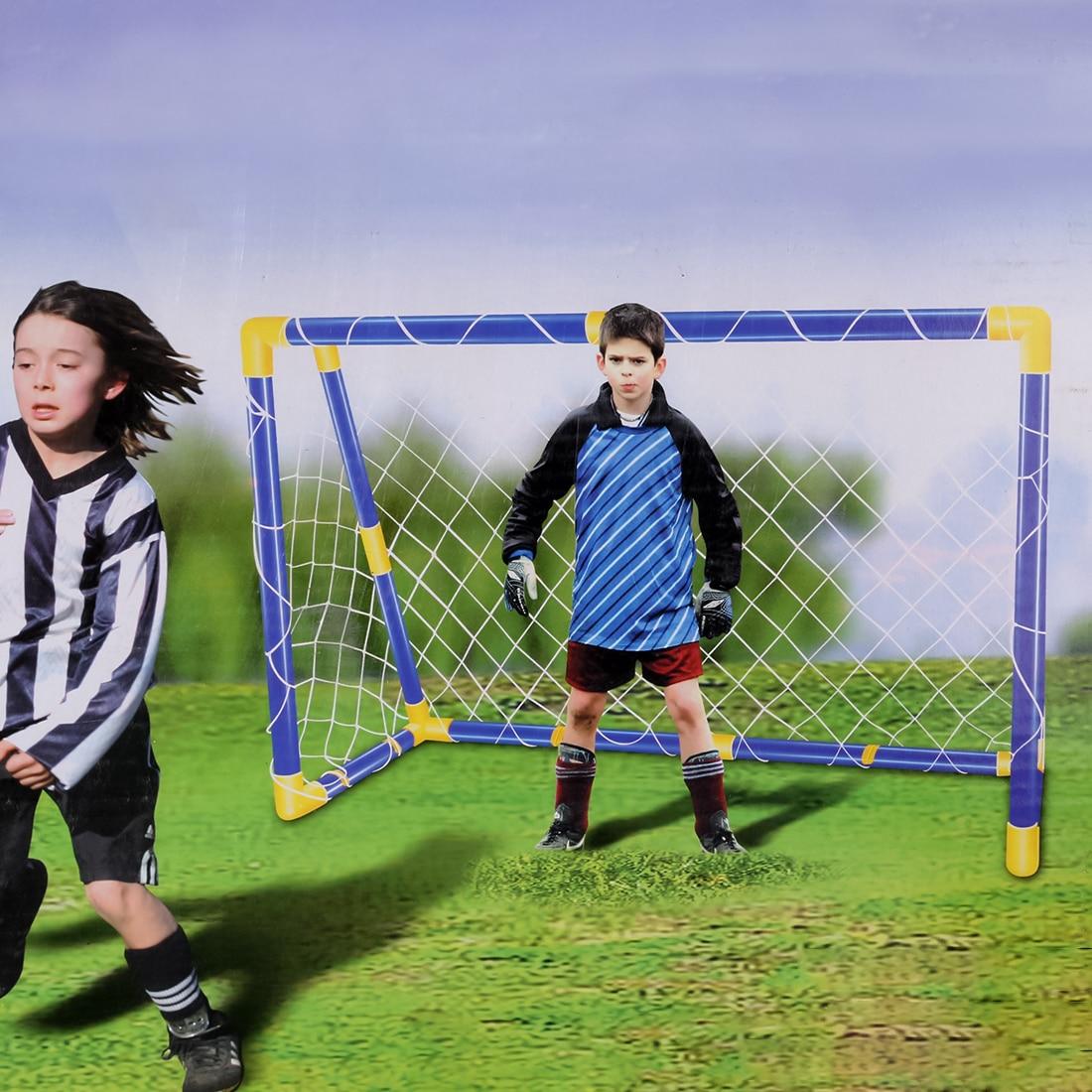 Portable Folding Goal Kids Football Net Football Door Set Football Gate for Children Training недорго, оригинальная цена