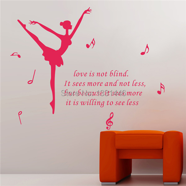 Life Is Not Blind Wall Decals Quotes Dance Photo Wallpaper Acrylic
