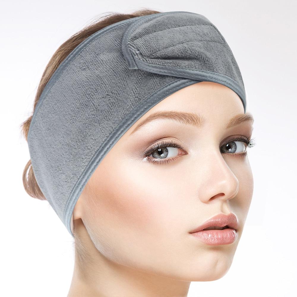 Sinland Microfibra Headband Mulheres Moda Maquiagem Suave Cosméticos Esportes Chuveiro Spa Yoga Headband Do Menina 3 Peças