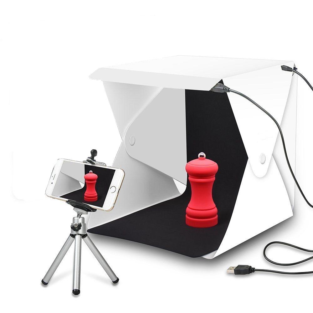 Mini Tragbare Falten Leuchtkasten Fotografie Studio softbox Led-licht-foto Softbox für iphone DSLR Kamera Foto Hintergrund