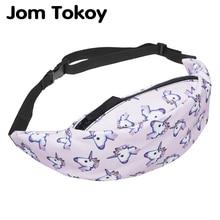 Jom Tokoy Новая красочная поясная сумка для мужчин, поясная сумка, стильная поясная сумка с единорогом, Женская поясная сумка для путешествий, сумки для мобильного телефона